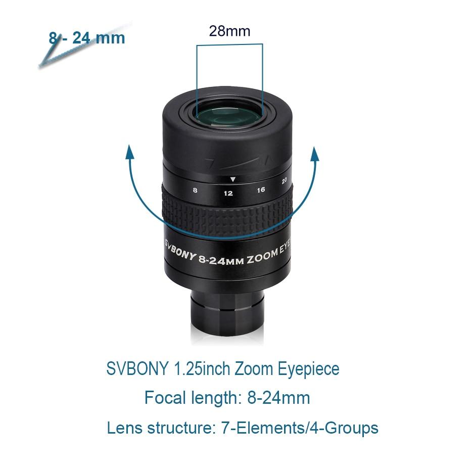 Tools : SVBONY 1 25inch Zoom Telescope Eyepiece 7-21mm 8-24mm 10-30mm Full Metal Barrel and Broadband Multicoating W9130A