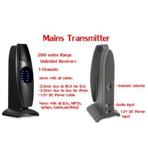 Image 5 - サイレントディスコ競合システムブラック led ワイヤレスヘッドフォン静音クラブパーティーバンドル (10 ヘッドフォン + 2 トランスミッタ)