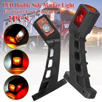 цена на Dome light Universal 12V 24V Car Truck LED Double Side Marker Light Waterproof Dual Indicator Lamp For Trailer Lorry Caravan