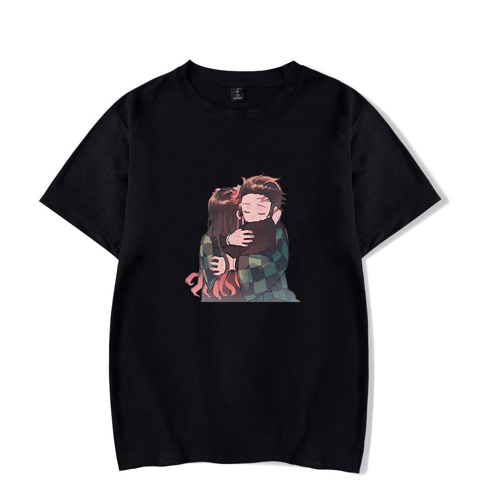 Cotton T-shirt Demon Slayer Short Tee Summer Men/women Harajuku Anime Tshirt Fashion Demon Slayer Kimetsu Men's T shirts