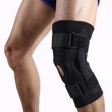 цена на 1PC Orthopedic Knee Brace Double Aluminum Hinged Support Outdoor Sports Kneepad Adjustable Patella Stabilizer Wrap Protector Pad
