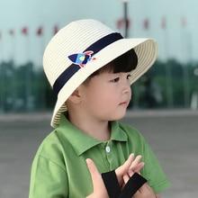 Sun-Hat Plane Panama Summer-Cap Boys Kids Children Beach Wide Jazz Cartoon Brim Straw