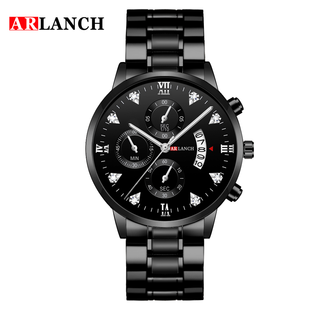 Man Watch Stainless Steel Strap Watches Military Watch casual fashion wristwatches Waterproof Watch man relogio masculino