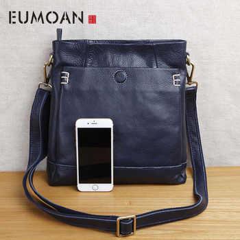Handmade leather men\'s shoulder messenger bag first layer cowhide retro vertical men\'s bag casual tide - Category 🛒 Luggage & Bags