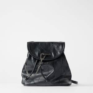 Backpack Link-Chain School-Bag Black Fashion Clamshell Ms. Creative New