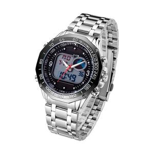 Image 5 - 6.11 New Solar Watch Men Alloy Quartz Dual Time Mens Watches Waterproof Wristwatch Led Digital Relogio Masculino