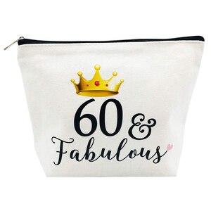 60 & Сказочный холст косметичка для макияжа мать бабушка 60 лет 60 лет шестьдесят день рождения подарок украшения поставки