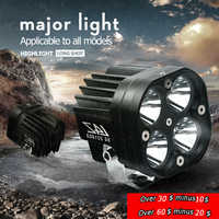 Aluminum 60W LED Spot Light Spotlight Assist Lamp Universal Motorcycle Headlight Daylight Spot Light HeadLamp Decorative Lamp
