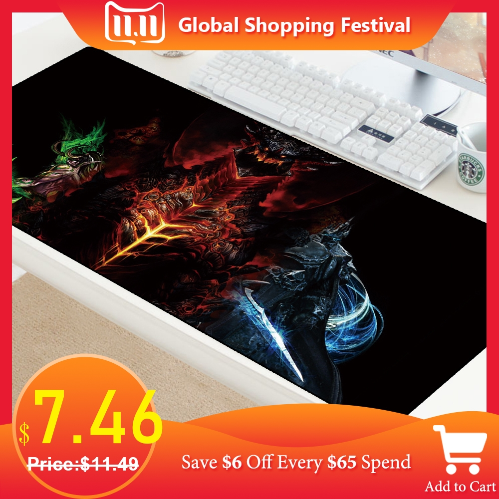 70X30cm Gaming Mouse Pad For World Of Warcraft Mousepad Large XL Keyboard Mouse Mat For Game Laptop Rubber Computer PC Speed Mat