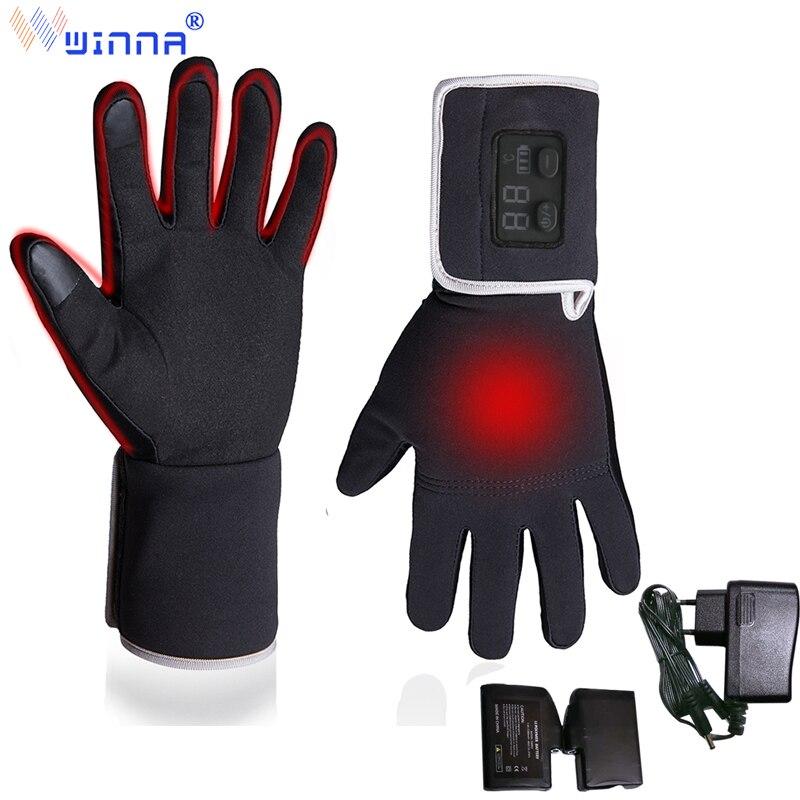 Новое поступление, кожаные перчатки с электрическим подогревом для мужчин и женщин, для верховой езды, рыбалки, спорта на открытом воздухе, ...