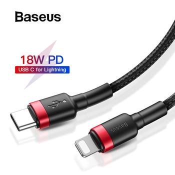 Baseus 18W PD Cable USB C to for Lightning Cable for iPhone 11 Pro Charging Cable Type C Data Cable for Macbook USB C Cord