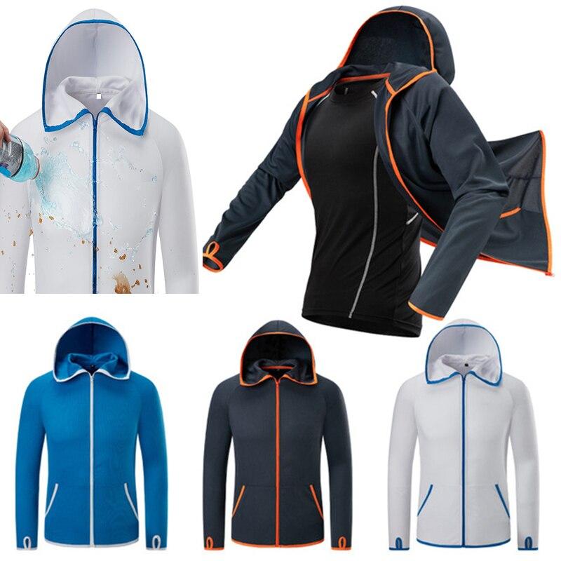 Hooded-Jacket Fishing-Clothings Waterproof Sports Chaqueta Ultra-Light Men Anti-Uv Hombre