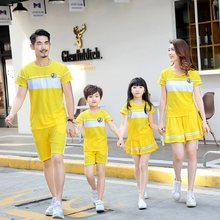Family Matching Outfits Summer 2020 New Years Clothing Father Son T Shirts Mommy and Me Clothes Mom and Daughter Dress Pajamas(China)