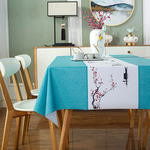 Chinese Style Tablecloth for Table Cloth Waterproof Pvc Tablecloth Rectangular Cloth Tablecloths Oilcloth on Table Coffee Tables