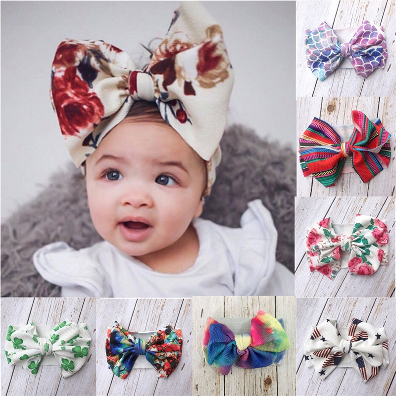 Baby  Girls Bow Hairband Turban Knot  Headband Girl Headwear Newborn Girl Turban Hairband