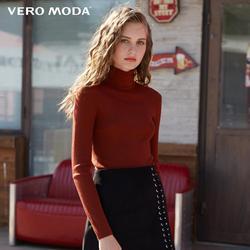 Vero Moda Otoño 100% lana Slim de punto ajustada Base cuello de tortuga suéter de punto mujeres | 318324522