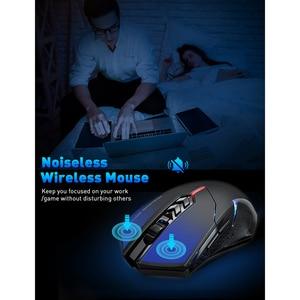Image 3 - Victsing PC066 ワイヤレスマウス 2.4ghzノイズレスゲーミングマウス 7 ボタン 5 調整可能なdpi 2400 コンピュータマウスノートpc用ゲーマー