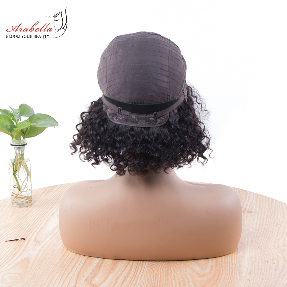 Jerry Curly Machine Wig 100%  Wigs 180% Density Natural  Hair Arabella Curly Hair Wig  6
