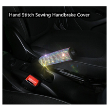 Protector Handbrake-Cover Bling-Accessories Auto-Decor Car Hand-Stitch for Women Styling