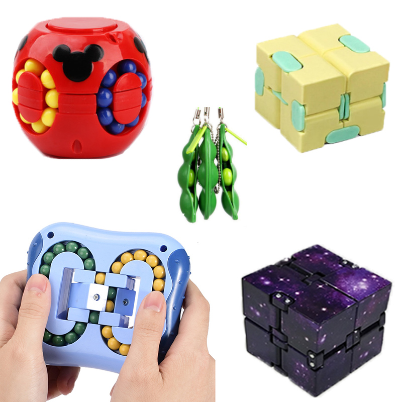 7 Pack Fidget Sensory Toy Set Stress Relief Toys Autism Anxiety Relief Stress Infinity Cube Fidget Sensory Toy for Kids Adults img1