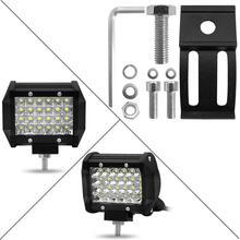 2pcs/4pcs Car Bulb 4 inch 72W Row LED Strip Lights Off-Car Top Refit Light Bar Working Lamp for Driving Tractor Truck