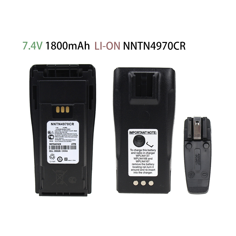 NNTN4970CR Replacement Battery 1800mAh Li-on Battery For Motorola CP040 CP140 CP150 CP160 PR400 EP450 XiR P3688 Battery