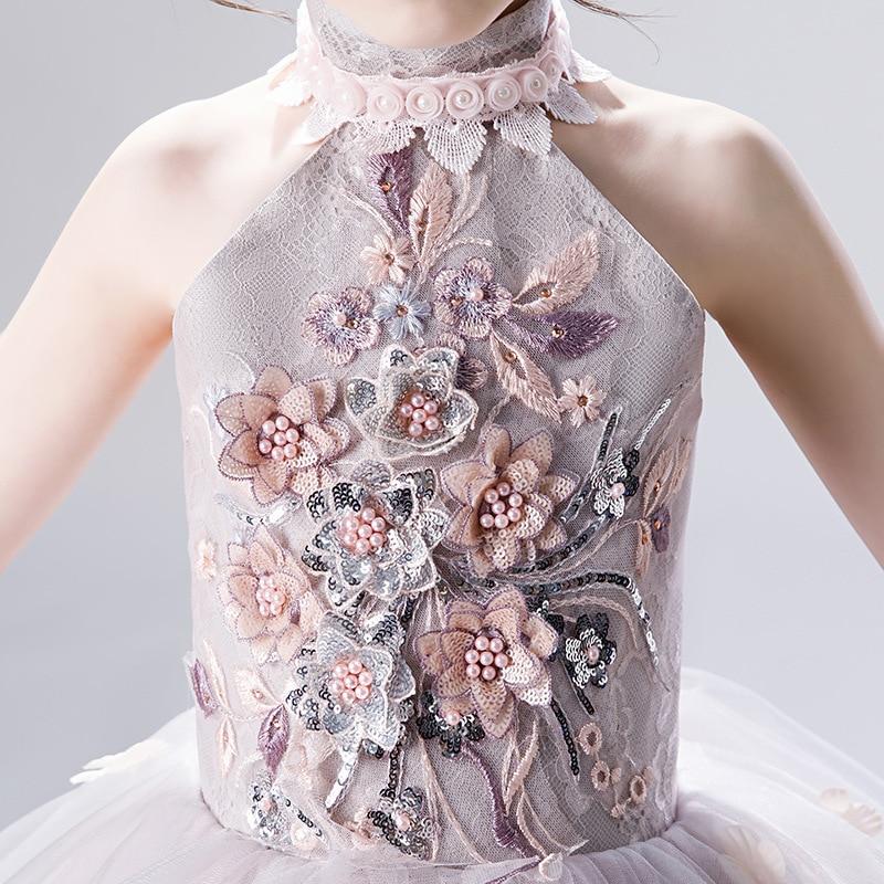 CHILDREN'S Dress Princess Dress 2019 New Style Small Host Puffy Yarn Late Formal Dress Girls Piano Western Style Costume