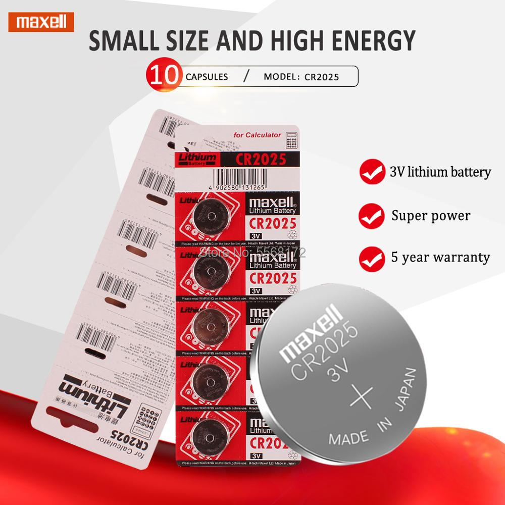 10pc original brand For maxell <font><b>cr2025</b></font> ECR2025 BR2025 DL2025 KCR2025 LM2025 3v button cell coin lithium <font><b>batteries</b></font> for watch image