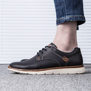 Image 4 - Misalwa Classic Comfort Mens Leather Shoe Brand Leisure Stylish Casual Flat Shoes Work Office Business Keep Warm Men Sneakers