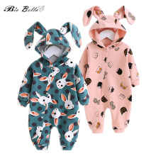 New Baby Romper Kids Cute Rabbit Style Hooded Long Sleeve Ju