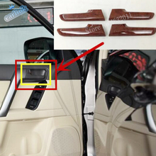 For Toyota Land Cruiser Prado 2010-2017 ABS Plastic inner door handle protector frame Cover Trim Car Styling Accessories 4pcs wooden color door holder handle ac outlet dashboard trim lc 200 car styling 2016 2017 for toyota land cruiser 200 accessories