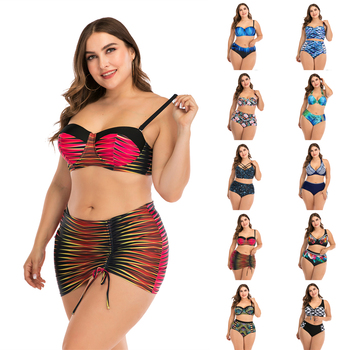 2020 Sexy Bikini Two Piece Swimsuit Plus Size Swimwear Large Size Bathing Suits Beach Wear Plus Size Swimming Suit For Women 4XL sexy tight fitting package hip vogue chic new 2017 beach bikini large size swimwear 11 color select