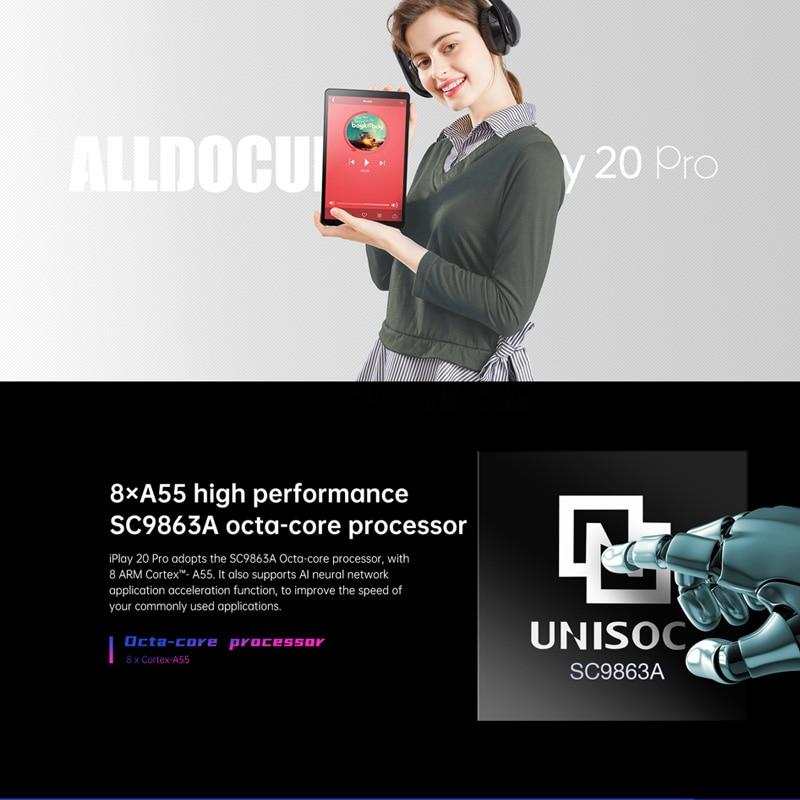 ALLDOCUBE New iPlay20 Pro 10.1 inch Android 10 Tablet 6GB RAM 128GB ROM SC9863A Tablets PC 1920*1200IPS 6000mAh TYPE-C 5