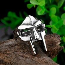 Clássico retro dos homens anel punk estilo gótico máscara de aço inoxidável anel masculino acessórios jóias para festa masculina melhor presente osr779