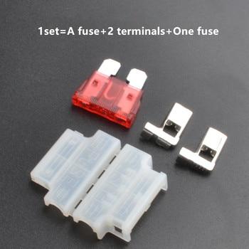 цена на 10sets Auto Standard Middle Fuse Holder + Car Boat Truck ATC/ATO Blade Fuse 3A 5A 10A 15A 20A 25A 30A 35A 40A