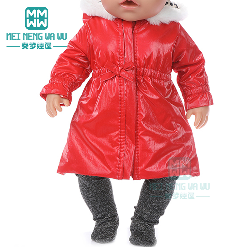 Doll Clothes Shiny Waist Down Jacket Set For 43 Cm Toy New Born Doll Baby 18 Inch American Doll Our Generation