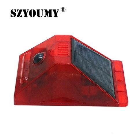 szyoumy alarme solar luz estroboscopica piscando 8 leds luz sensor de movimento seguranca sistema de