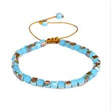 Rainbow Style Fashion Shinning Charm Bracelets For Women Mixed Glass Crystal Bracelet Wedding Jewelry Gift