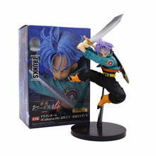 15cm Dragon Ball Z Trunks Jump Purple Hair Style PVC Action Figure Model Dragonball Future Toys For Kids Christmas Gifts