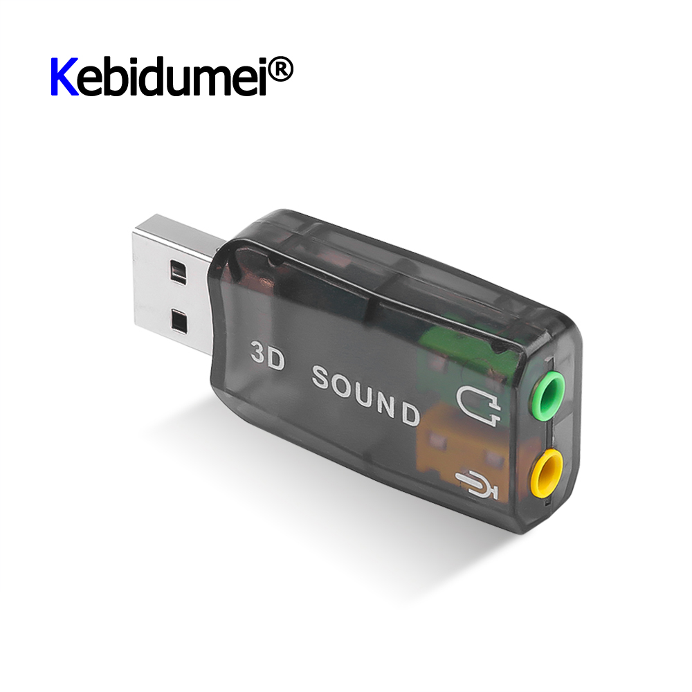 Mini External Usb To 3.5mm Mic Headphone Jack Stereo Headset 3d Sound Card Audio Adapter New Speaker Interface For Laptop