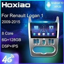 Автомагнитола 2DIN, 4G, Android 9, мультимедийный видеоплеер для Renault Logan 1, Sandero 2009, 2010, 2011, 2012, 2013, 2014, 2015, навигация