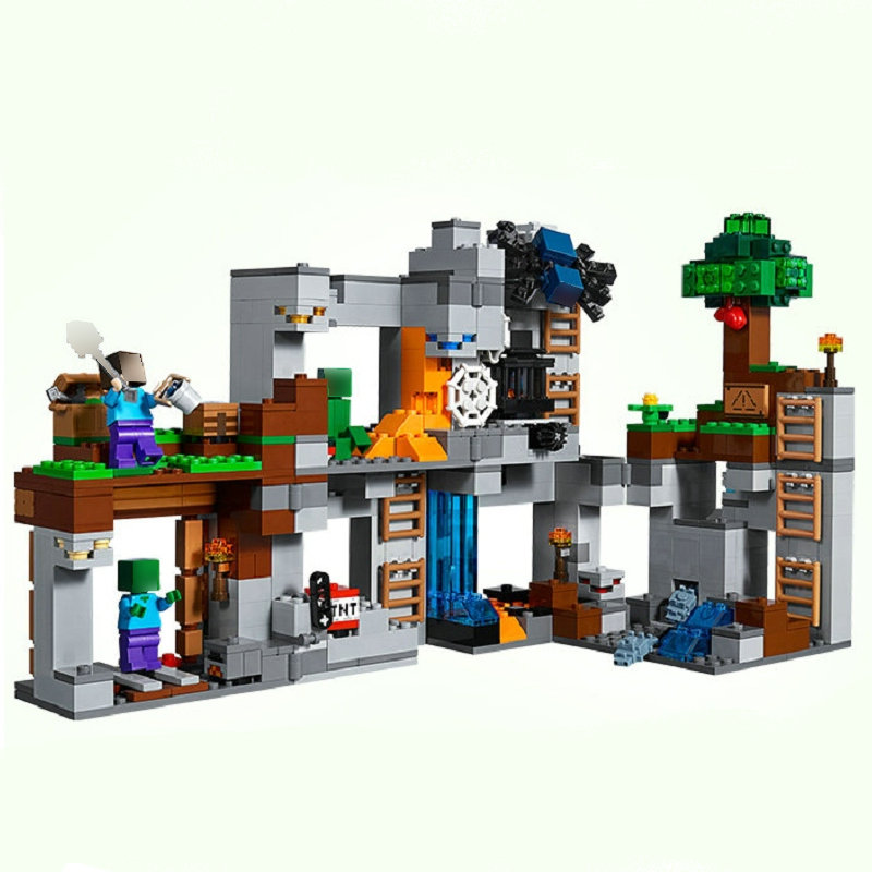 Image 2 - The Bedrock Adventures Building Blocks With Steve Action Figures Compatible My World MinecraftINGlys Sets Toys 21147Blocks   -