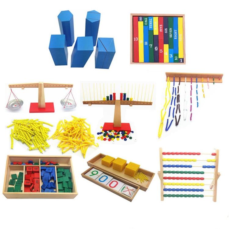 Montessori Early Education Mathematics Teaching Aids Said Disk Group Arithmetic Balance Stamp Game Yellow Beaded Bracelet Kinder