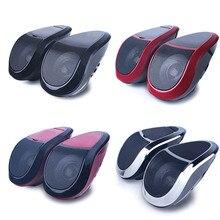 2Pcs 12V Motorrad Bluetooth Lautsprecher Audio Stereo MT493 Tragbare Wasserdichte LED Licht MP3 Player FM Radio Tuner Auto zubehör
