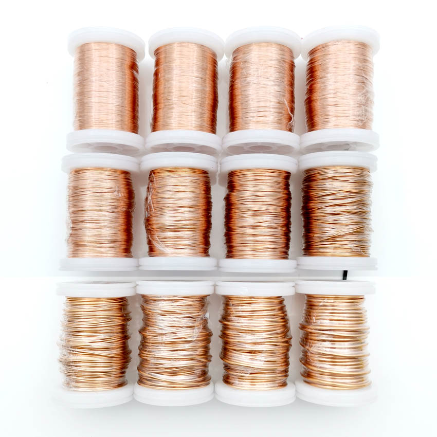 0 13mm 0 25mm 0 51mm 1mm 1 25mm copper wire Magnet Wire Enameled Copper Winding wire Weight 100g in Wires Cables from Lights Lighting
