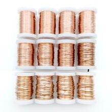 0.1mm 0.16mm 0.25mm 0.4mm 0.8mm 1.3mm fio de cobre do ímã do fio de cobre esmaltado peso de fio de enrolamento de cobre 100g