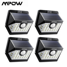 4 Pack MPOW 30 LED Solar Garden Motion Sensor Lights Outdoor Lamp 3 Lighting Modes 270 Wide angle Luz Solar Led Para Exterior