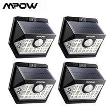 4 paket MPOW 30 LED güneş bahçe hareket sensör ışıkları açık hava aydınlatması 3 aydınlatma modları 270 geniş açı Luz güneş Led para dış