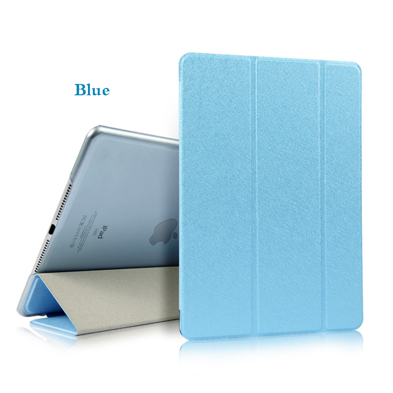Blue Blue Tablet Case For iPad Air 4 10 9 2020 PU Leather Tri fold Cover For iPad
