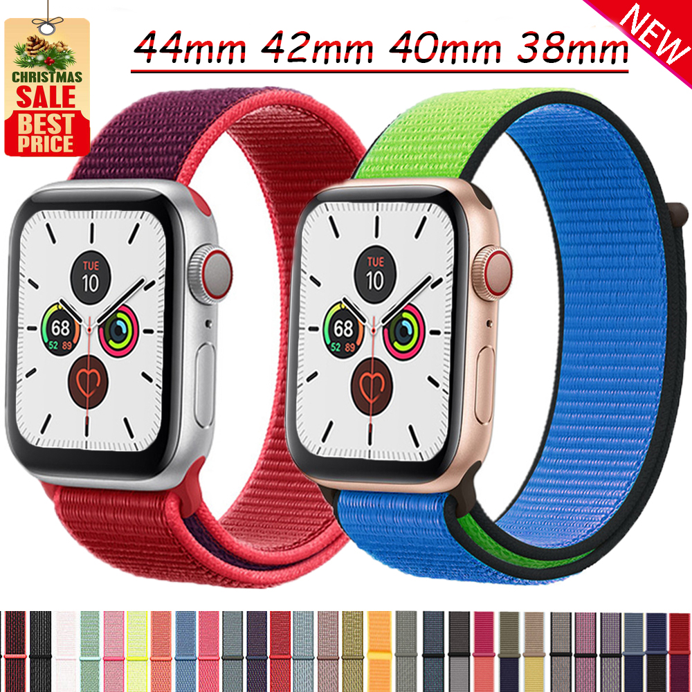 Nylon Sport Loop For Apple Watch Band Strap 42mm 38mm Iwatch Band 44mm 40mm Correa Bracelet For Apple Watch 5 4 3 2 1Accessories